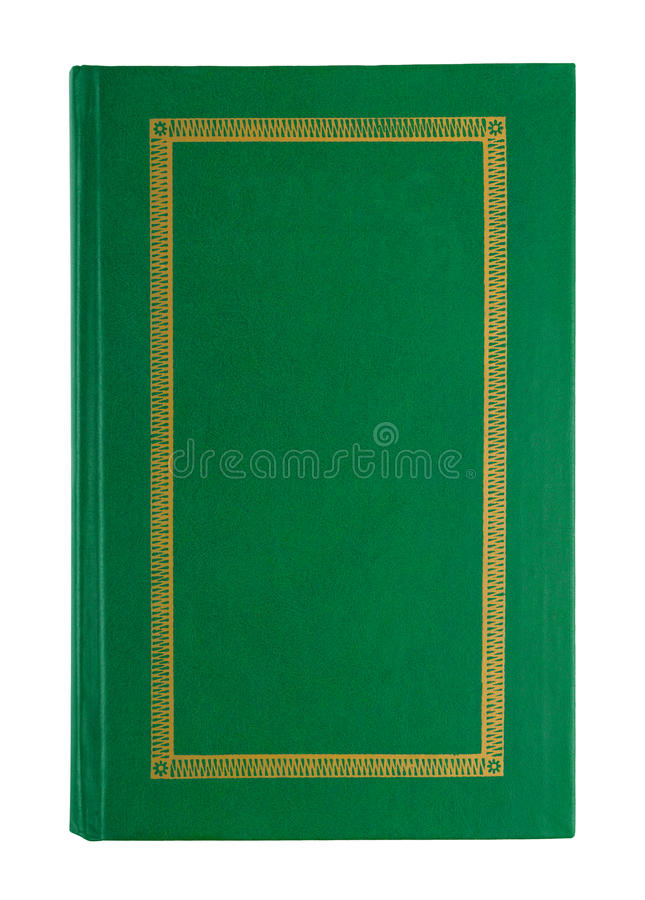 Book Cover White Background : Empty open green book cover stock photo image