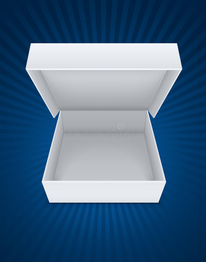 Empty open packaging box stock illustration