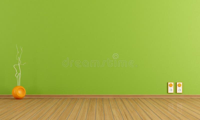 Empty orange room royalty free illustration