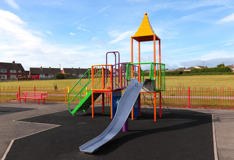 Download Empty Outdoor Children  Playground Stock Photo - Image of england, growth: 21929990