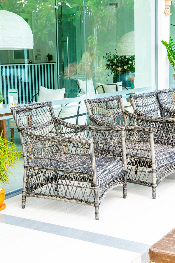 empty outdoor patio chair royalty free stock photo