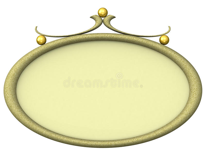 Download Empty Oval Picture Frame 3d Stock Illustration - Image: 21133067