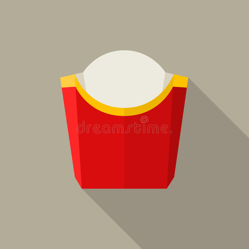 Empty packaging for french fries vector illustration