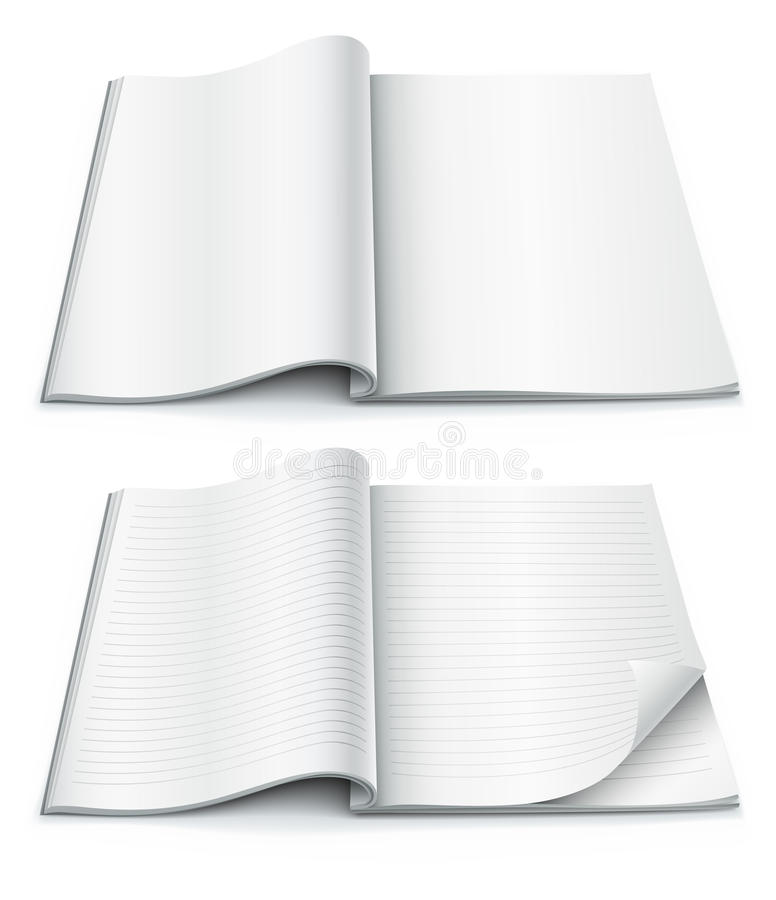 Free Empty Pages Inside Of Magazine With Wrapped Corner Stock Photo - 16268250