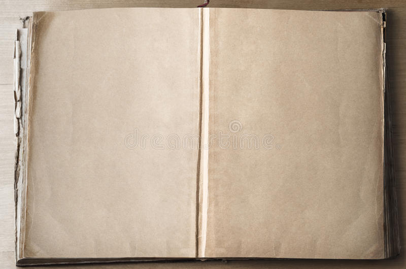 Empty Pages In Opened Book Stock Photo