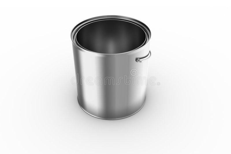 Download Empty paint can stock illustration. Image of bucket, metal - 6335347