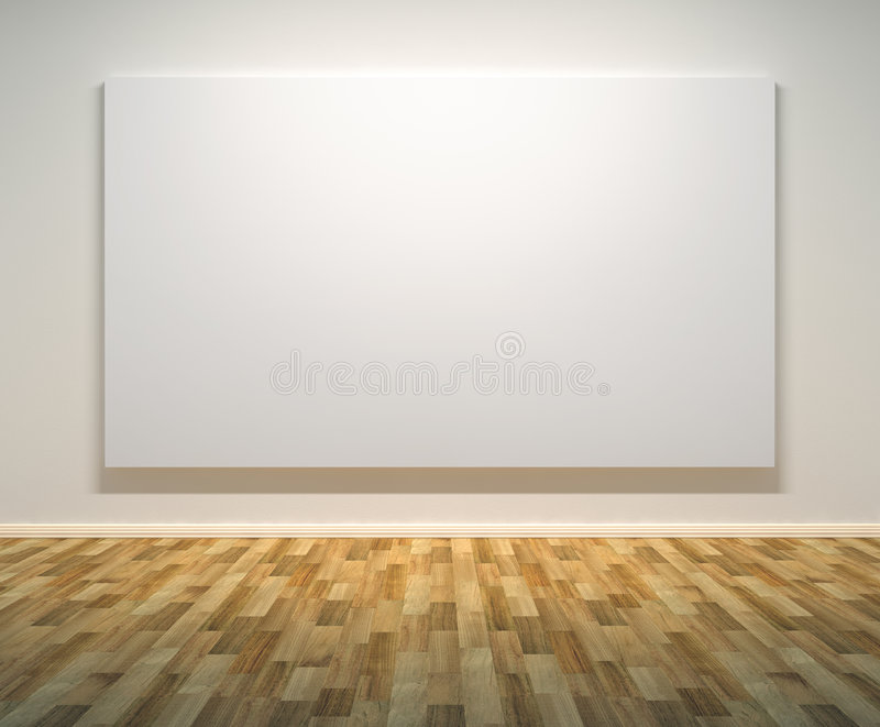 Empty Paintings Frame on the Wall vector illustration