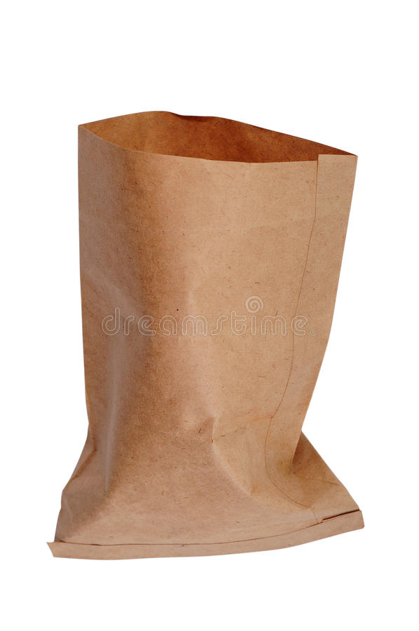 Empty paper bag royalty free stock image