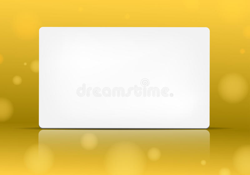 Download Empty Paper Card On Yellow Background Stock Photos - Image: 23467993