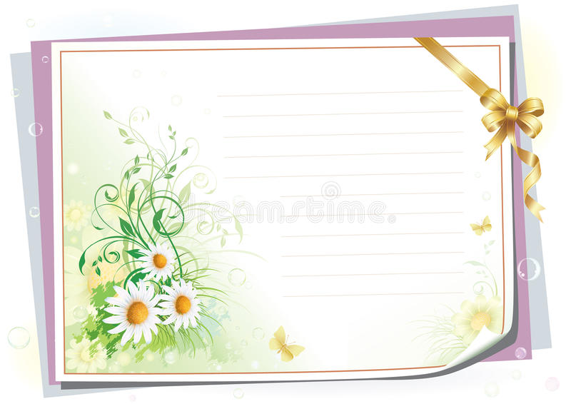 Download Empty Paper With Colorful Flowers Stock Vector - Image: 13864094