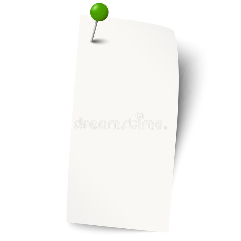 empty paper with pin royalty free illustration