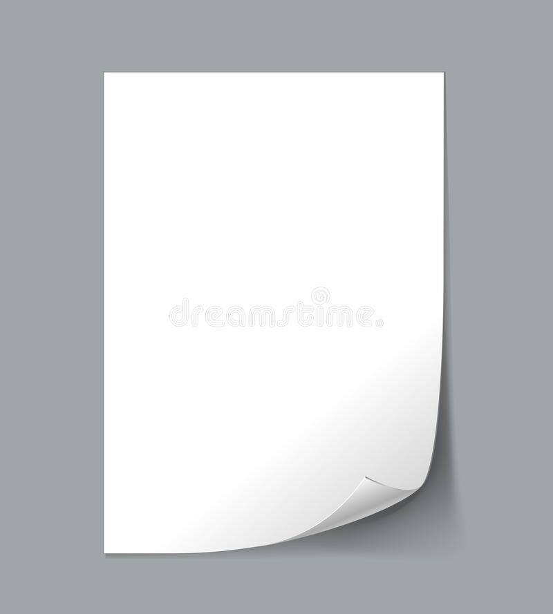 Empty paper sheet vector illustration