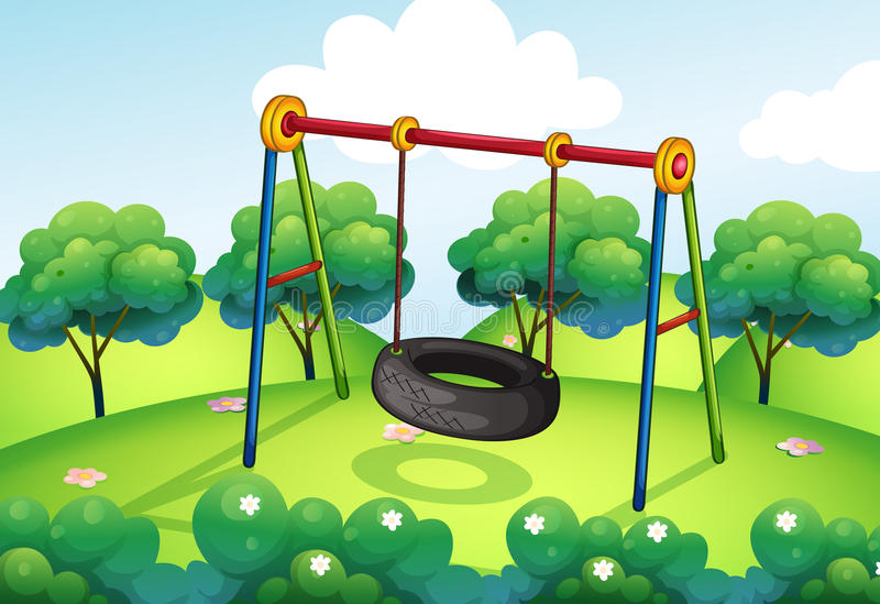 An empty park stock illustration