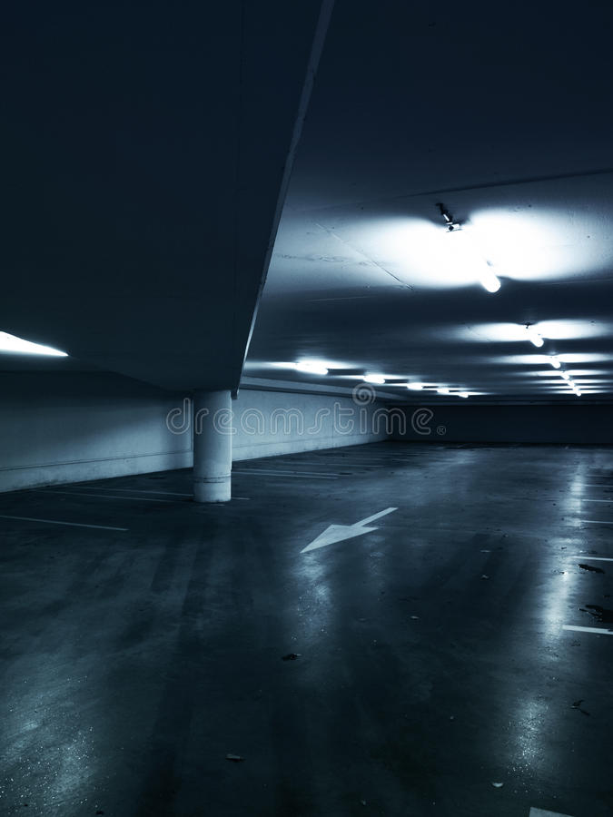 Empty parking garage stock photography