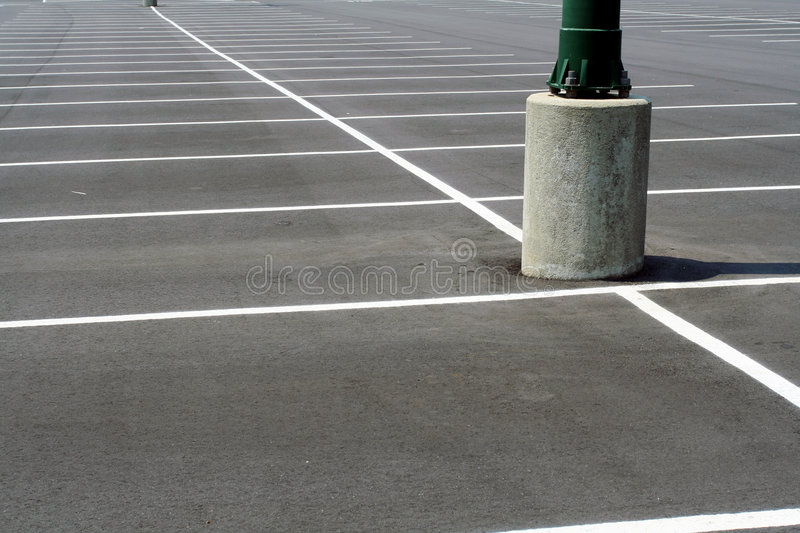 Empty Parking Lot. Parking lot with no cars royalty free stock photography