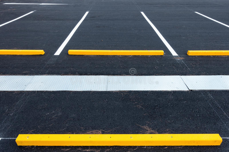 Empty parking lot, Public carpark, Outdoor parking. Empty parking lot, Public carpark stock photo