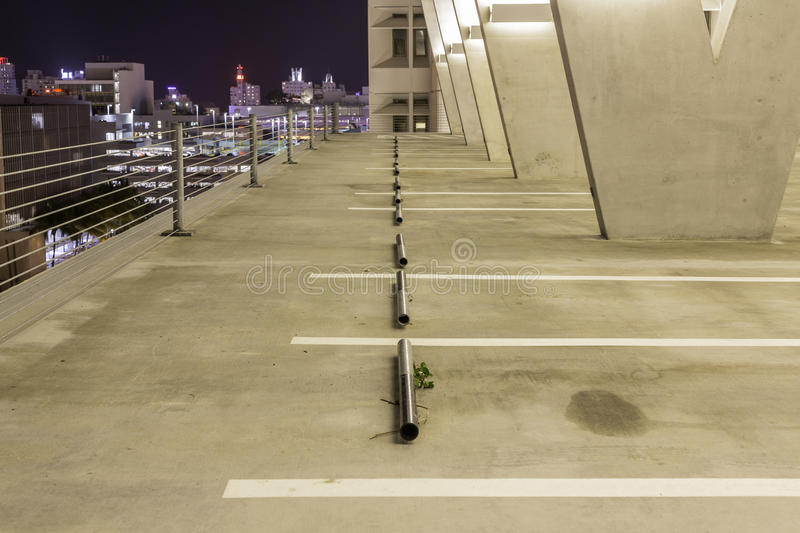 Empty parking lot wall royalty free stock image