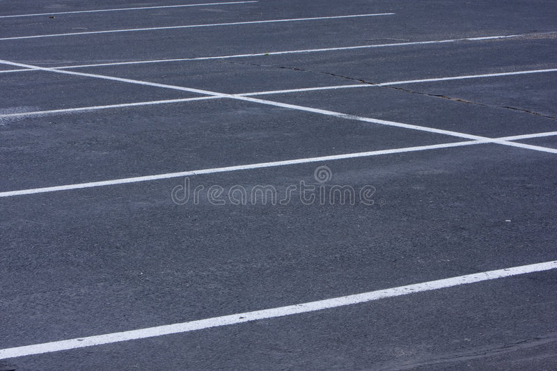 Download Empty Parking Lot With White Lines Stock Image - Image: 7112189