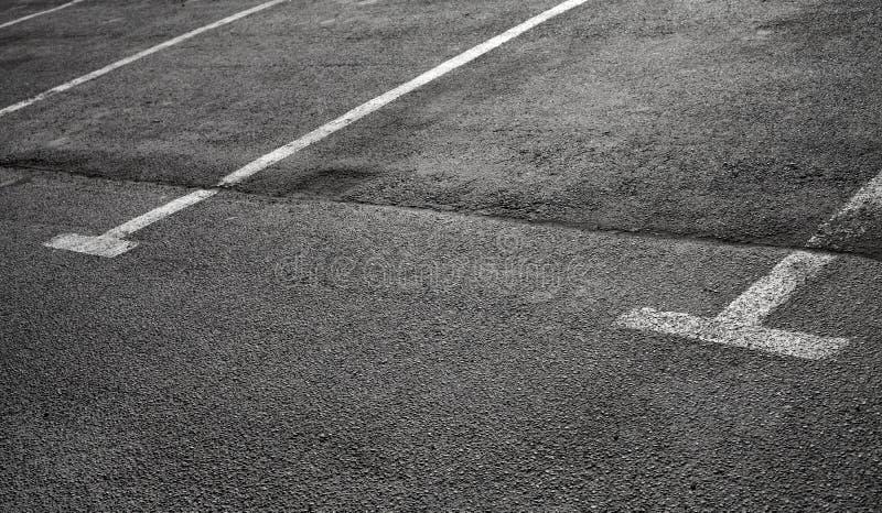 Download Empty Parking Places On Dark Asphalt Stock Image - Image: 30499257
