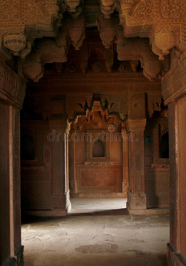 Free Empty Passage In An Abandoned Temple, India Stock Photography - 11382362