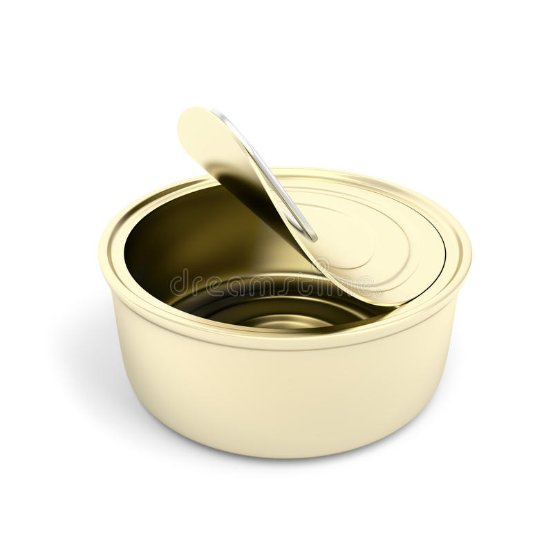 Empty pate can stock illustration