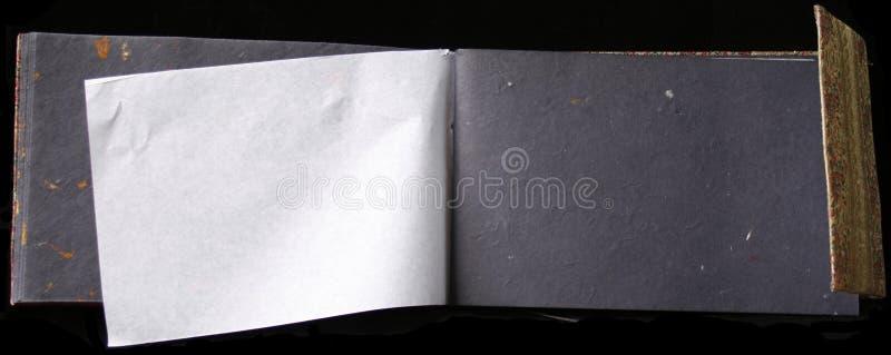 Empty photo album stock image