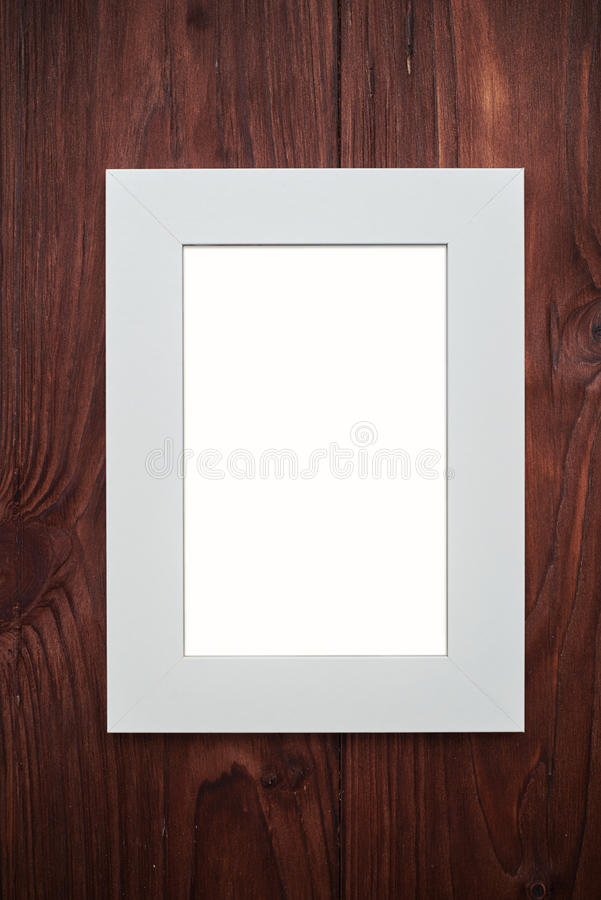 Download Empty Photo Frame On Brown Wooden Desk Stock Illustration - Illustration of single, picture: 70384502