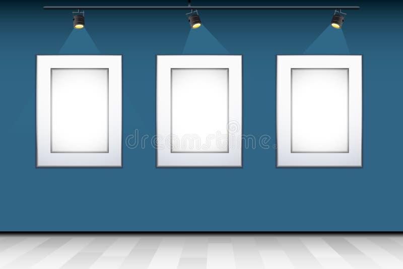 Empty Photo Frame on Wall royalty free illustration