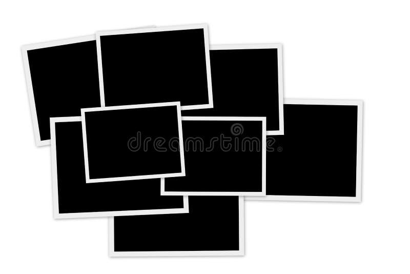 Empty photo frames vector illustration