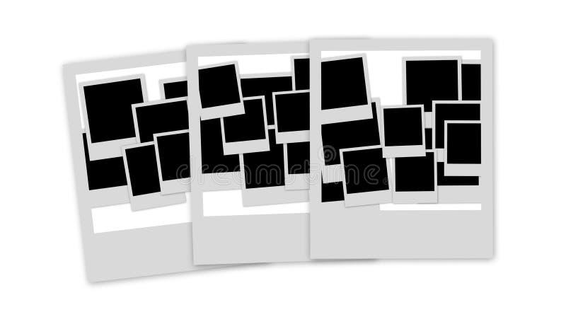 Empty photo frames pile stock illustration