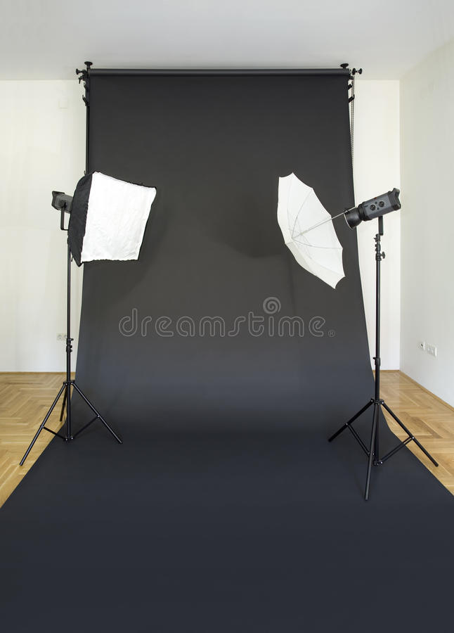 Empty Photo Studio Royalty Free Stock Images
