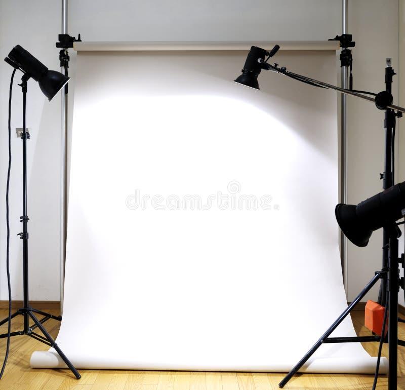 Empty photographic studio. With tools stock photo