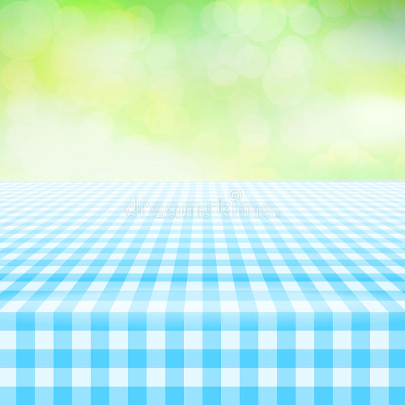 Download Empty Picnic Gingham Tablecloth, Green Background Stock Vector    Illustration Of Plaid, Linen