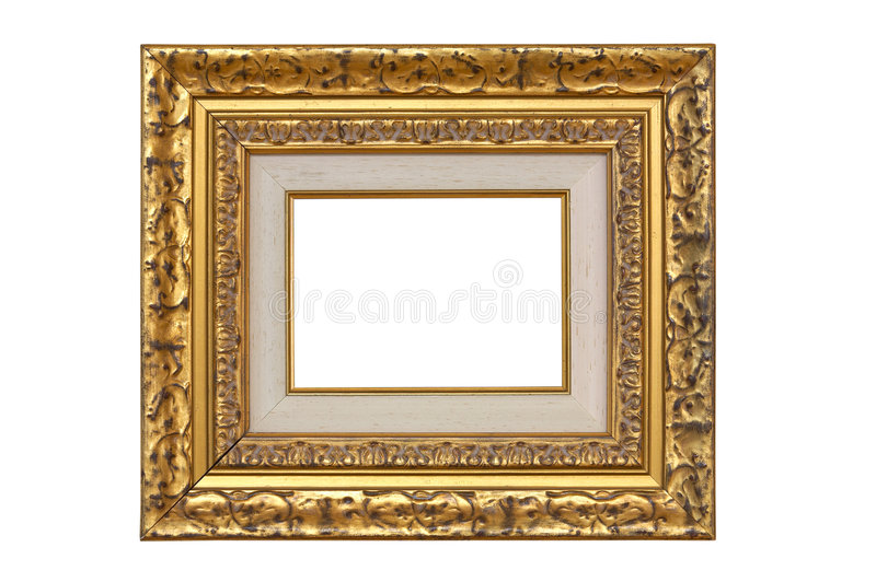 Empty picture frame royalty free stock images