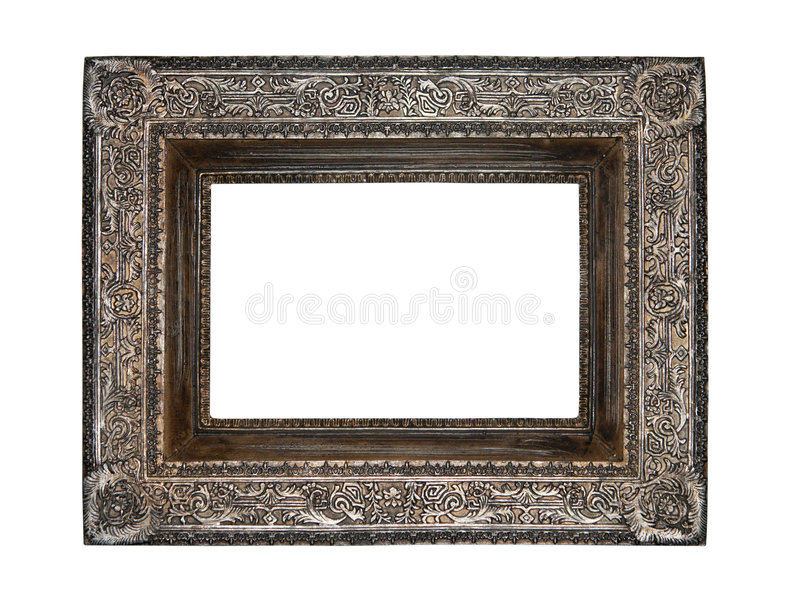Empty picture frame royalty free stock photography