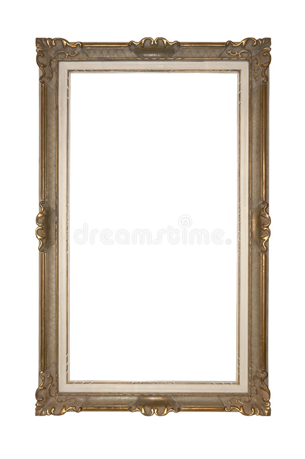 Empty picture frame isolated Clipping Path stock photo