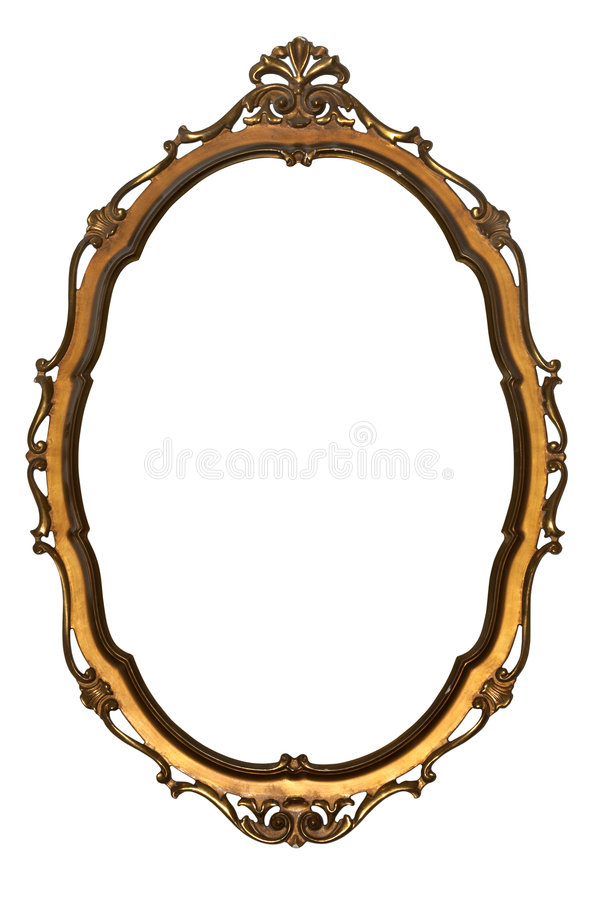 Empty picture frame isolated Clipping Path stock image
