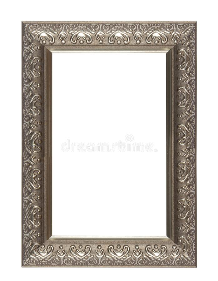 Empty picture frame isolated. On white stock images
