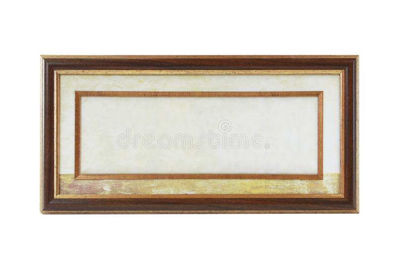Picture frame isolated on a white background. Empty picture frame isolated on a white background stock image