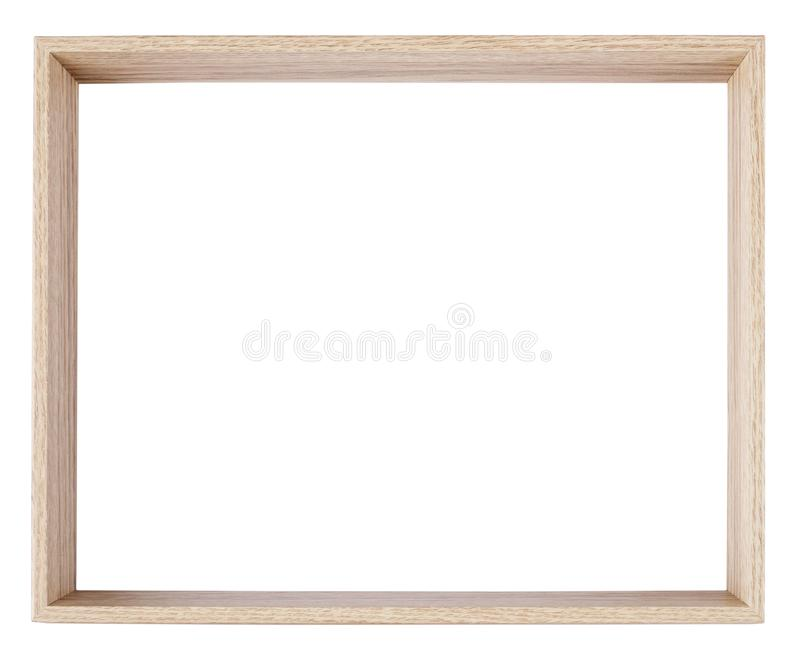 Empty picture frame in a wood grain moulding royalty free stock photos