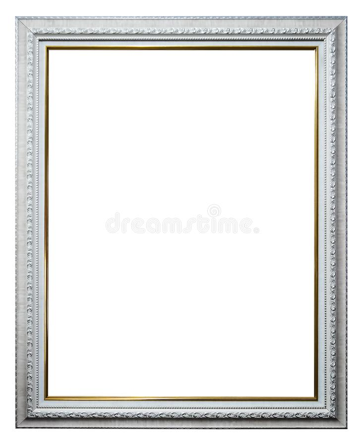 Empty picture frames isolate on white stock photos