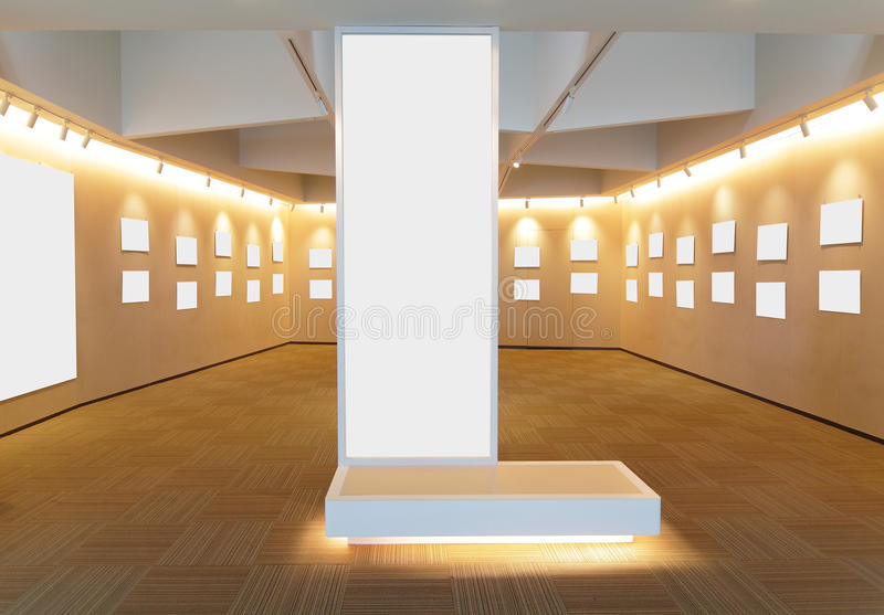 Empty picture frames in the room royalty free stock photos
