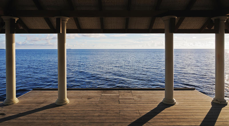 Download Empty pier on the sea stock image. Image of nature, travel - 12645137