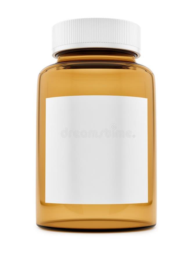 an empty pill bottle royalty free stock photos