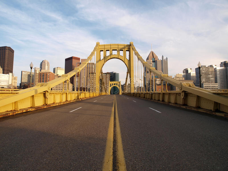 Empty Pittsburgh Bridge royalty free stock photography