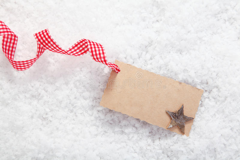 Empty Place Card Or Gift Card Royalty Free Stock Image