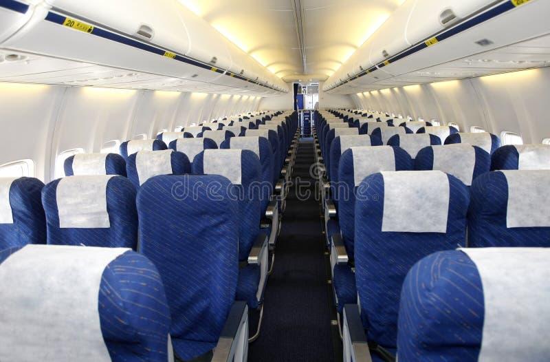 Empty plane interior stock photo