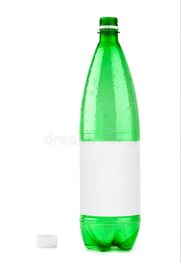 Empty Plastic Bottle With Blank Label Stock Image