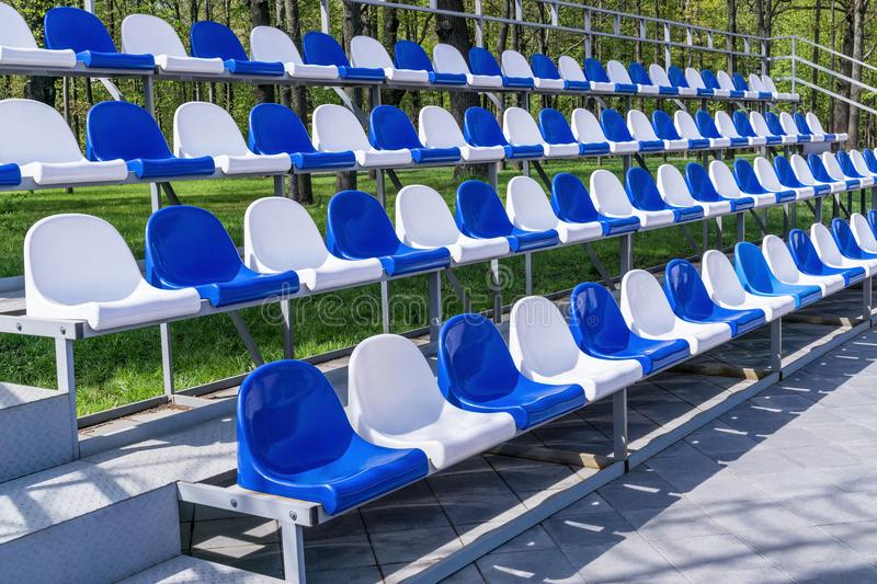 Grandstand stadium plastic royalty free stock image