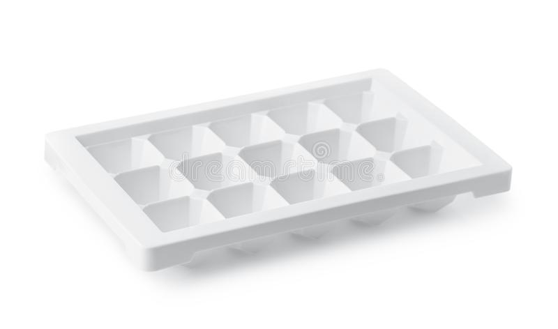 Empty plastic ice cube tray royalty free stock image